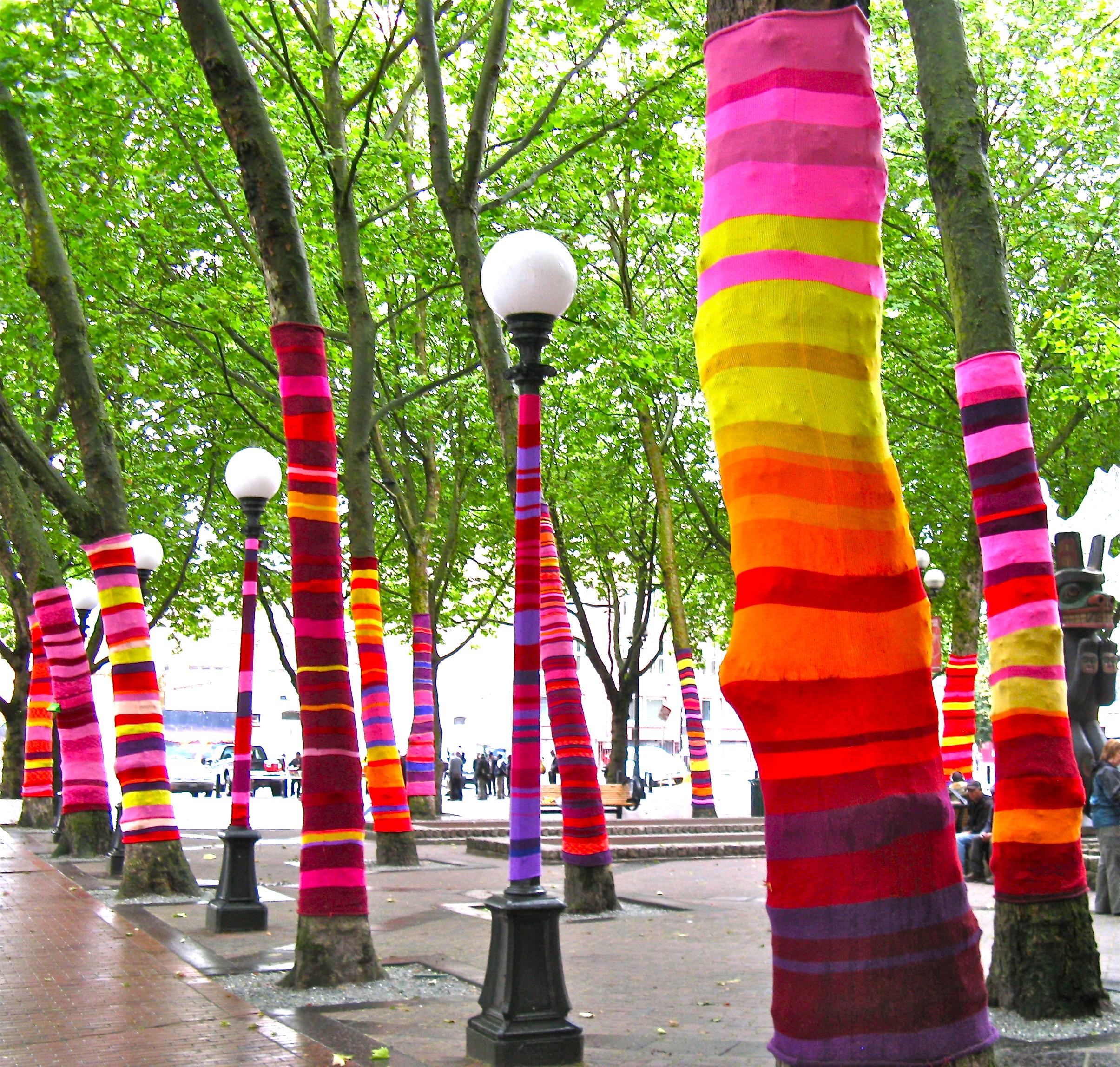 yarn bombing artsy forager