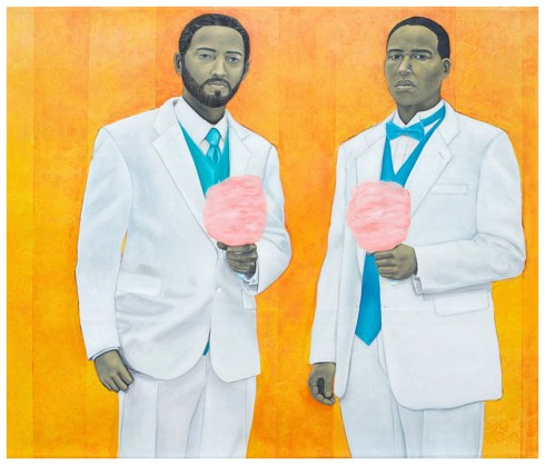 High Yella Masterpiece: We Ain't No Cotton Pickin' Negroes, oil on canvas, 69x59