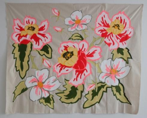 Garden Club, acrylic on unstretched canvas, 156x96