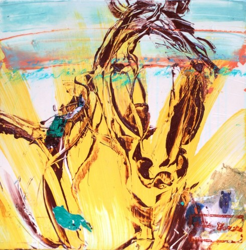 Moments with Wild Horses 79, 24x24