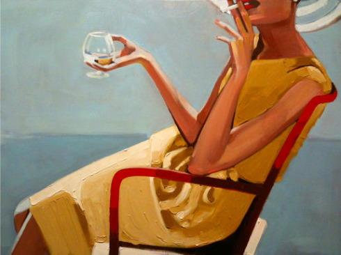 Happy Hour, oil on canvas