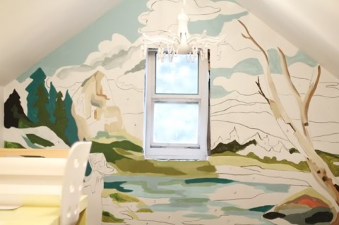 interior design artsy forager tips for painting a tree mural